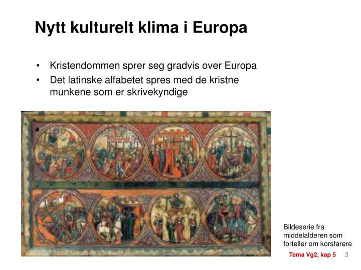 Kristendommen sprer seg gradvis over Europa