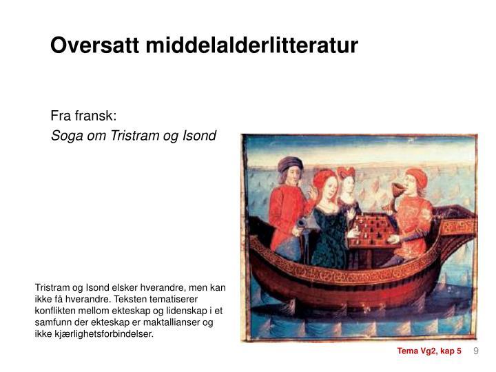 Oversatt middelalderlitteratur