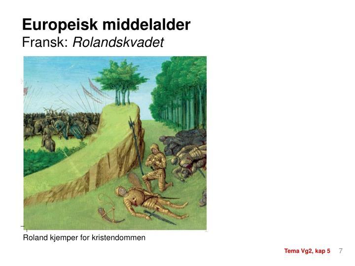 Europeisk middelalder