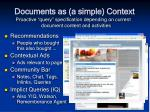 documents as a simple context