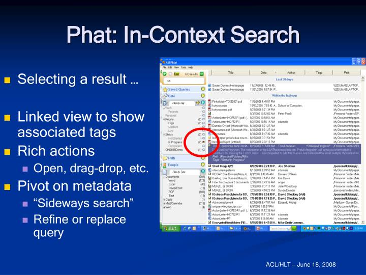 Phat: In-Context Search