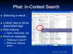 phat in context search