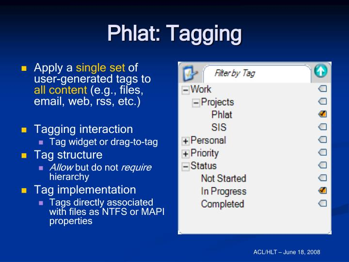 Phlat: Tagging