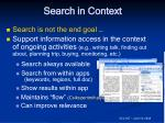 search in context