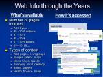 web info through the years