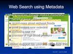 web search using metadata