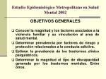 estudio epidemiol gico metropolitano en salud mental 2002