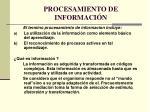 procesamiento de informaci n