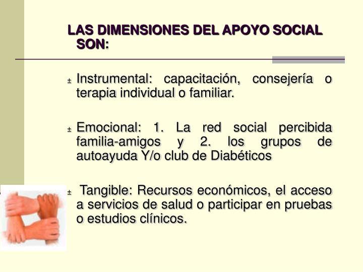 LAS DIMENSIONES DEL APOYO SOCIAL SON