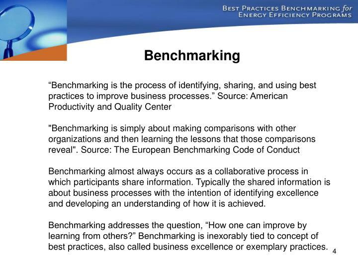 benchmarking practices