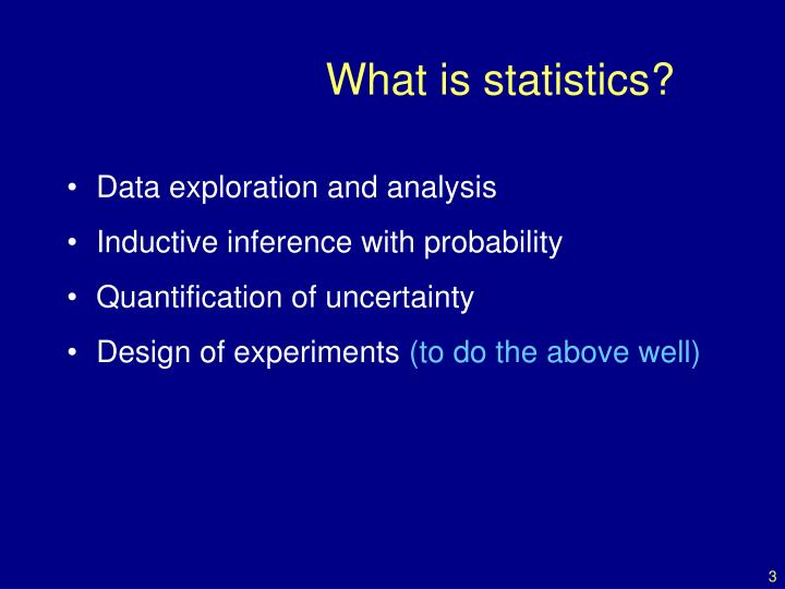 What is statistics3