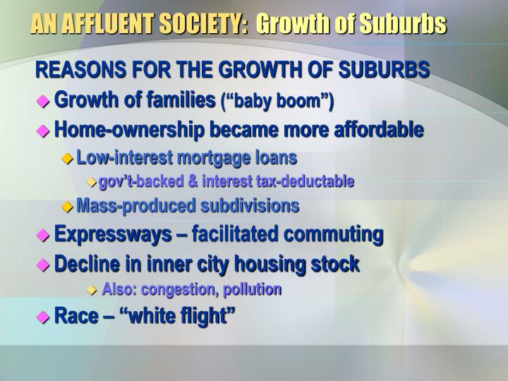affluent society thesis In his 1958 bestseller the affluent society subsidies from less affluent younger workers essays open doors essays.