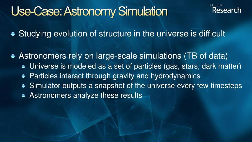 Use-Case: Astronomy Simulation
