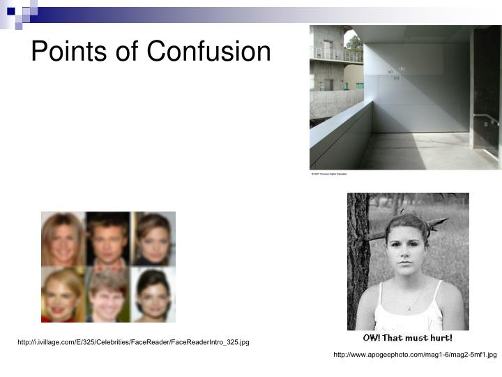 Points of Confusion