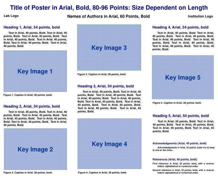 Title of Poster in Arial, Bold, 80-96 Points: Size Dependent on Length