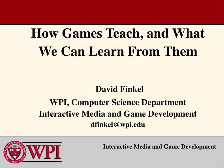 Interactive media and game development1