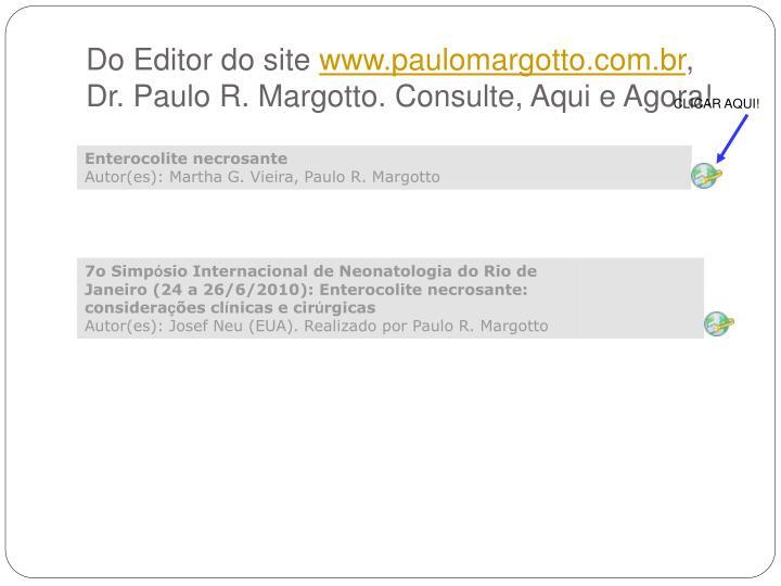 Do Editor do site