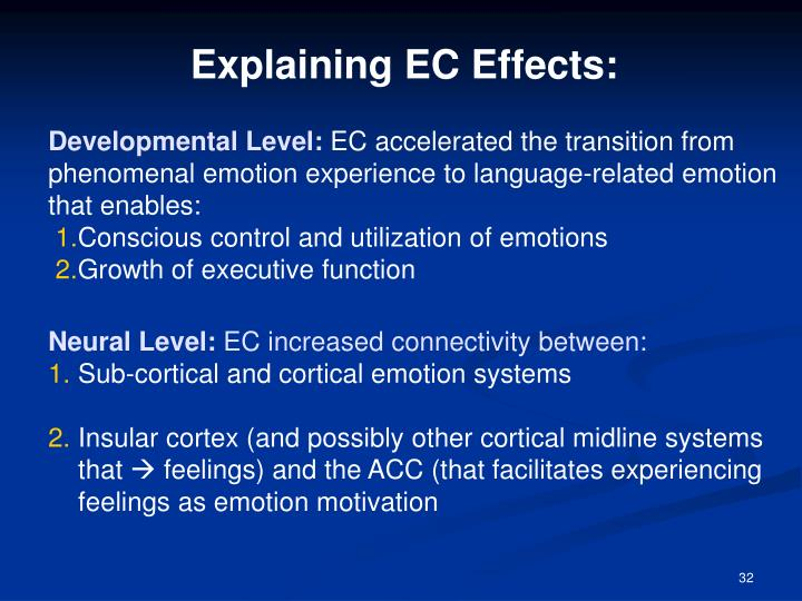 Explaining EC Effects: