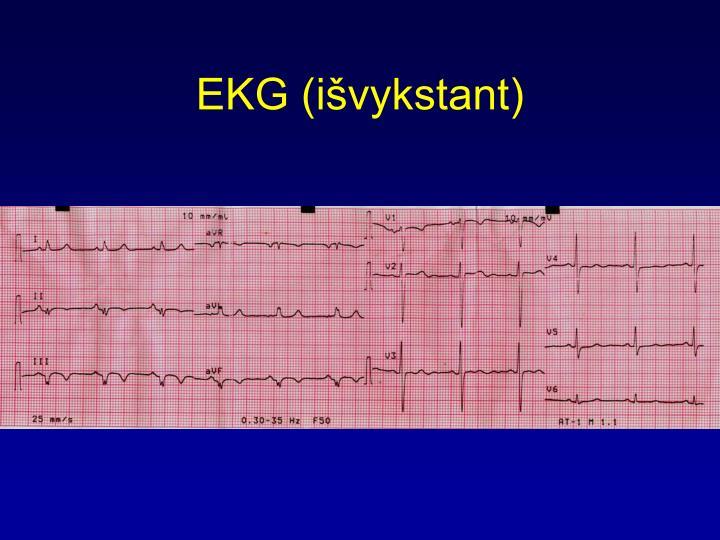 EKG (išvykstant)