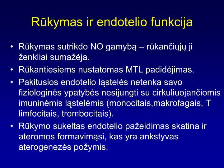 Rūkymas ir endotelio funkcija
