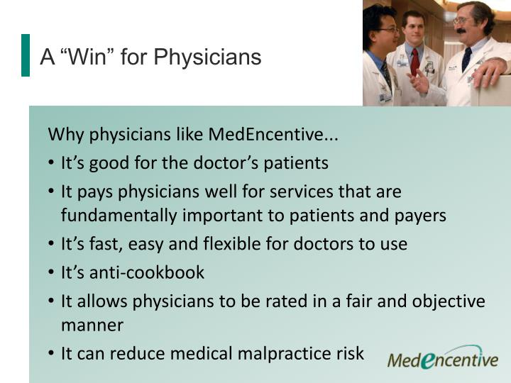 "A ""Win"" for Physicians"