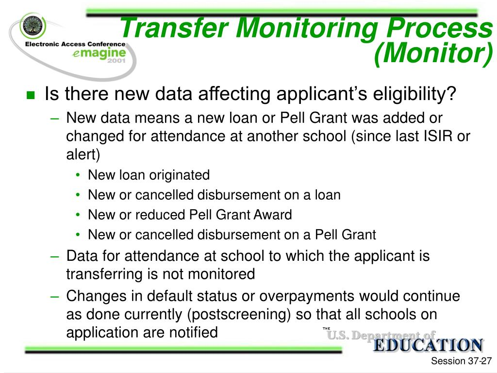 Transfer Monitoring Process