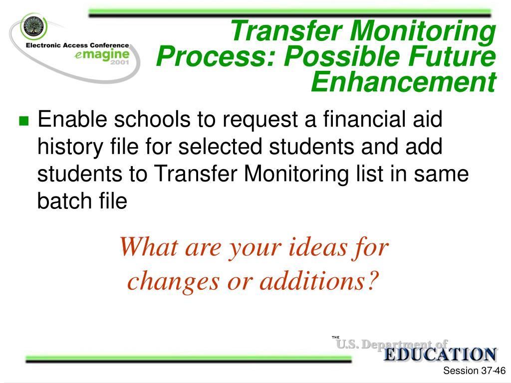 Transfer Monitoring