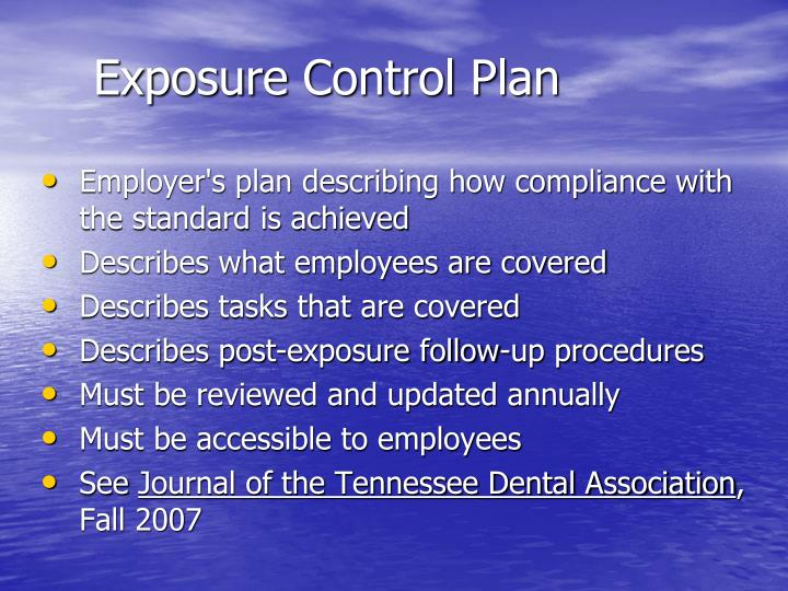 Exposure Control Plan