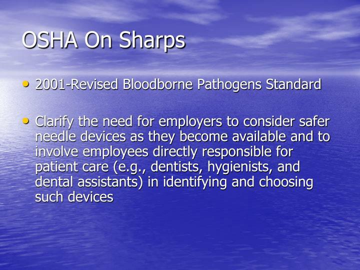 OSHA On Sharps