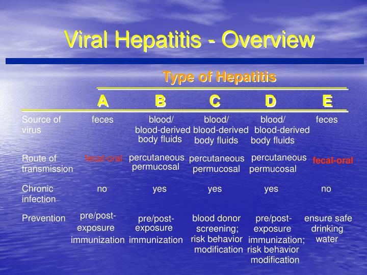Viral Hepatitis - Overview