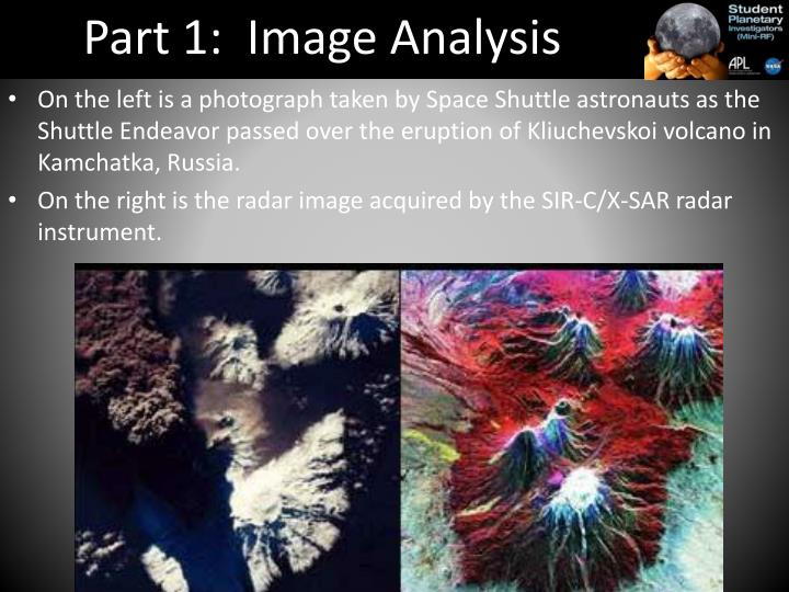 Part 1:  Image Analysis