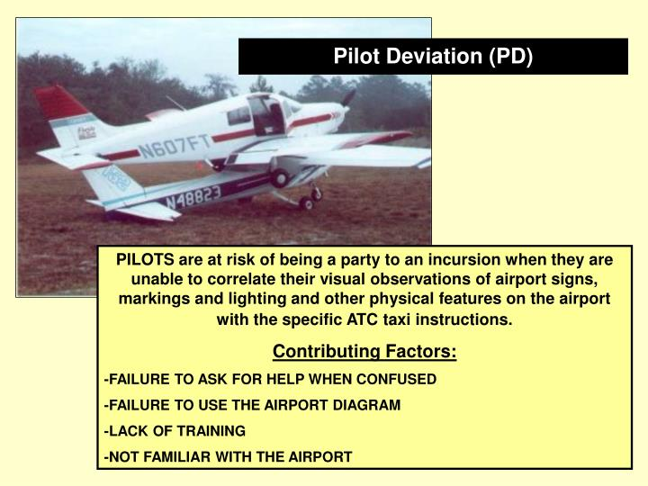 Pilot Deviation (PD)