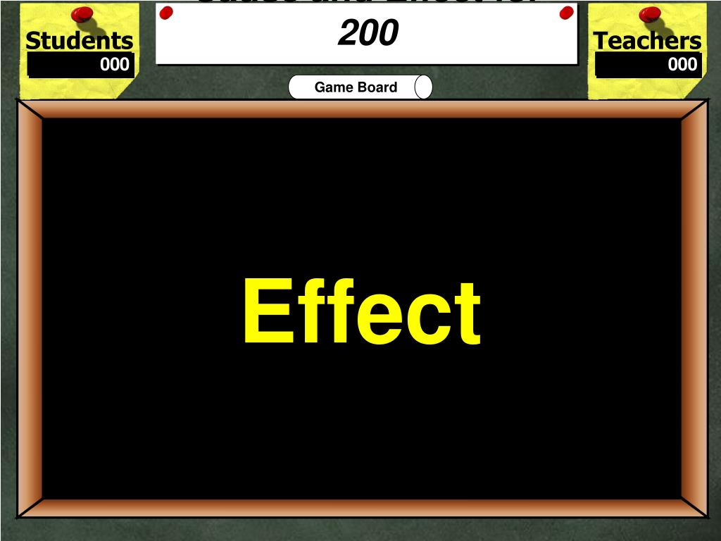 Cause and Effect for 200