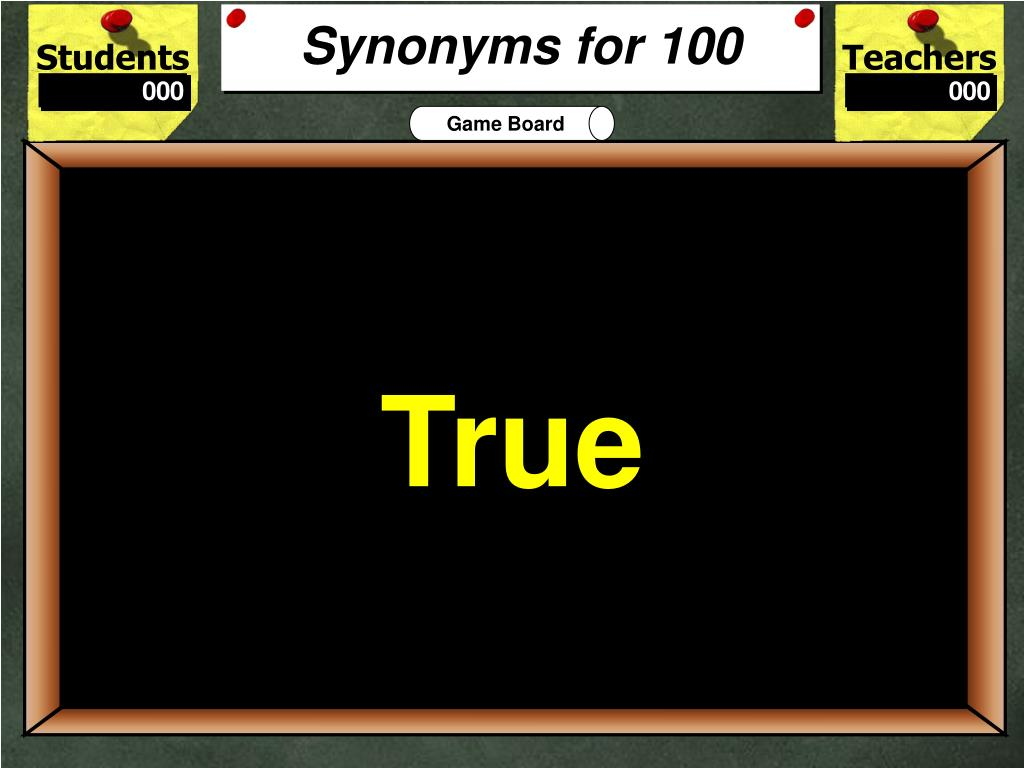 Synonyms for 100
