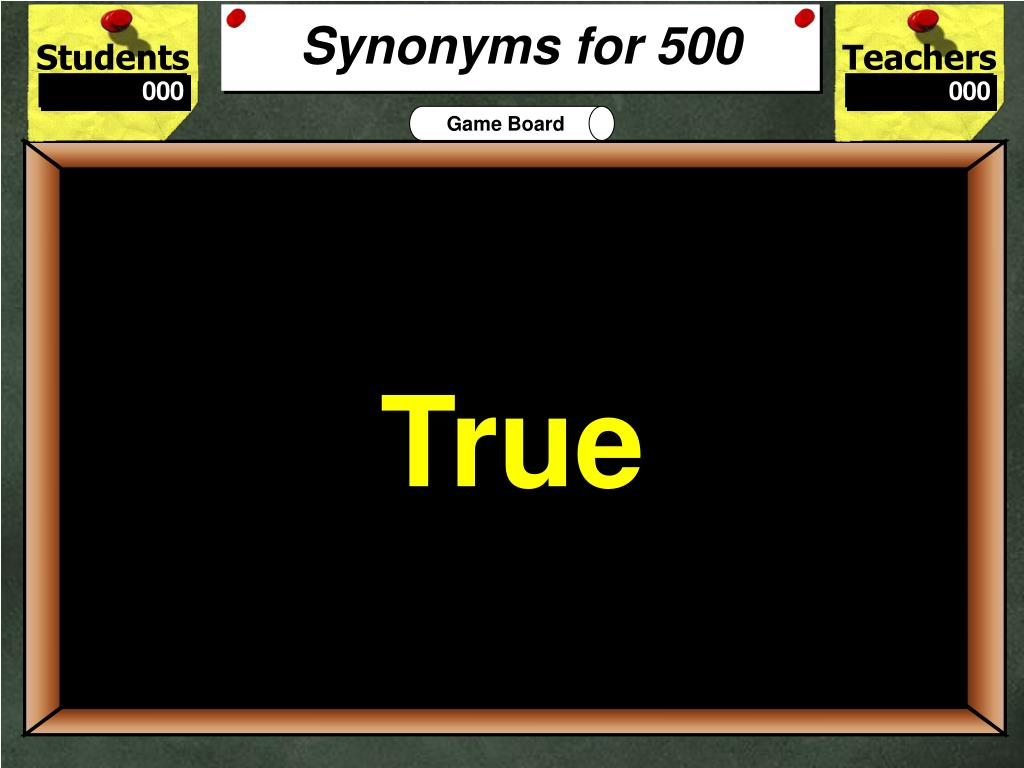 Synonyms for 500