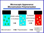 microscopic appearance microemulsion polymerization