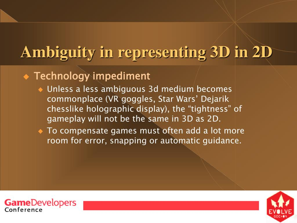 Ambiguity in representing 3D in 2D