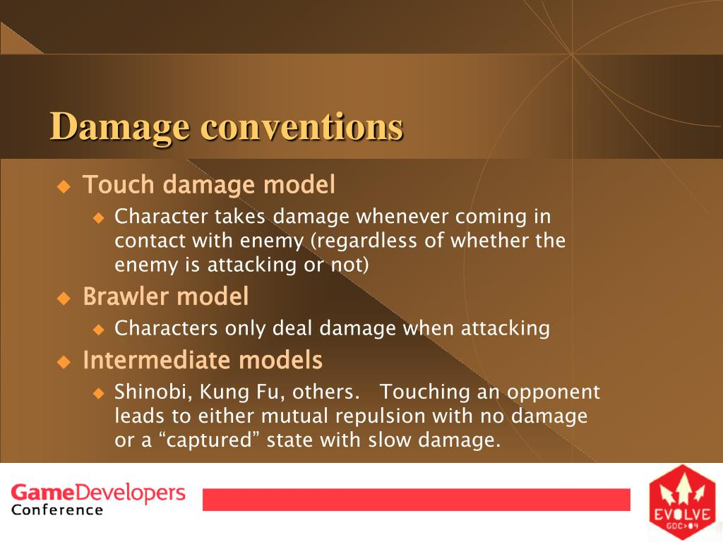 Damage conventions