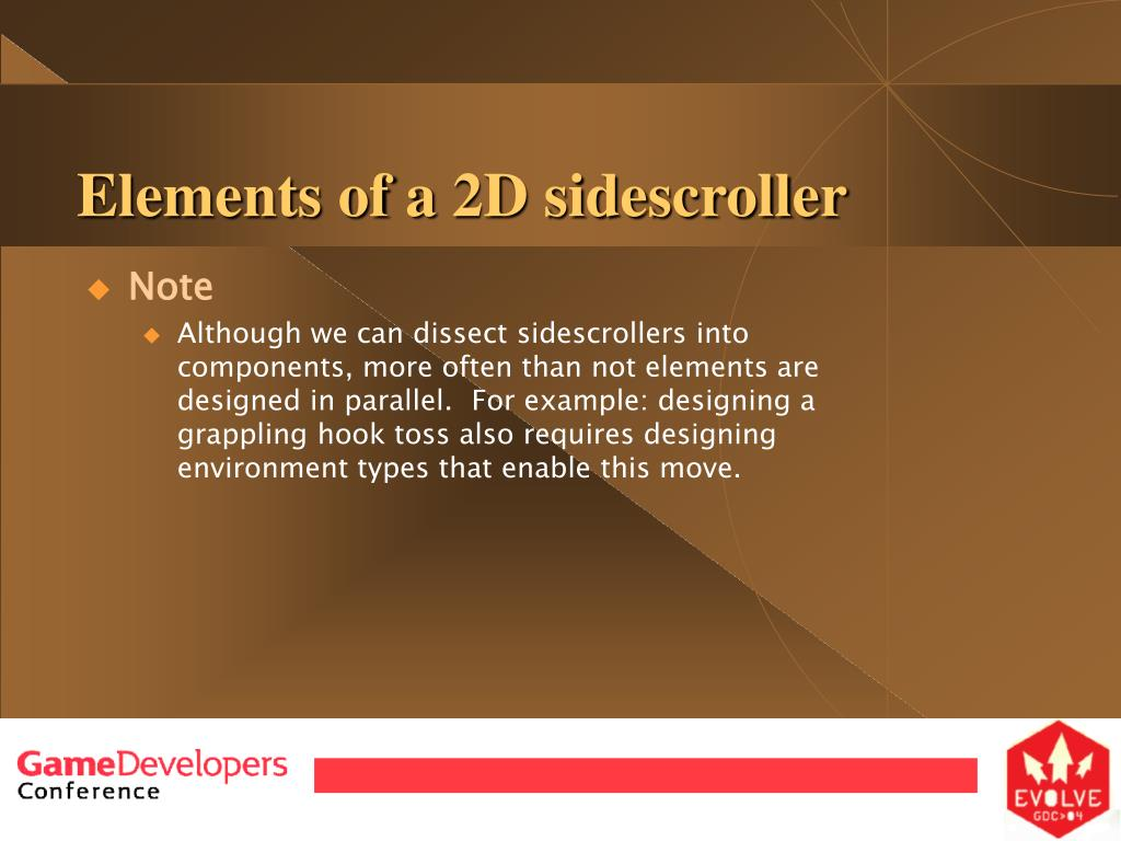 Elements of a 2D sidescroller