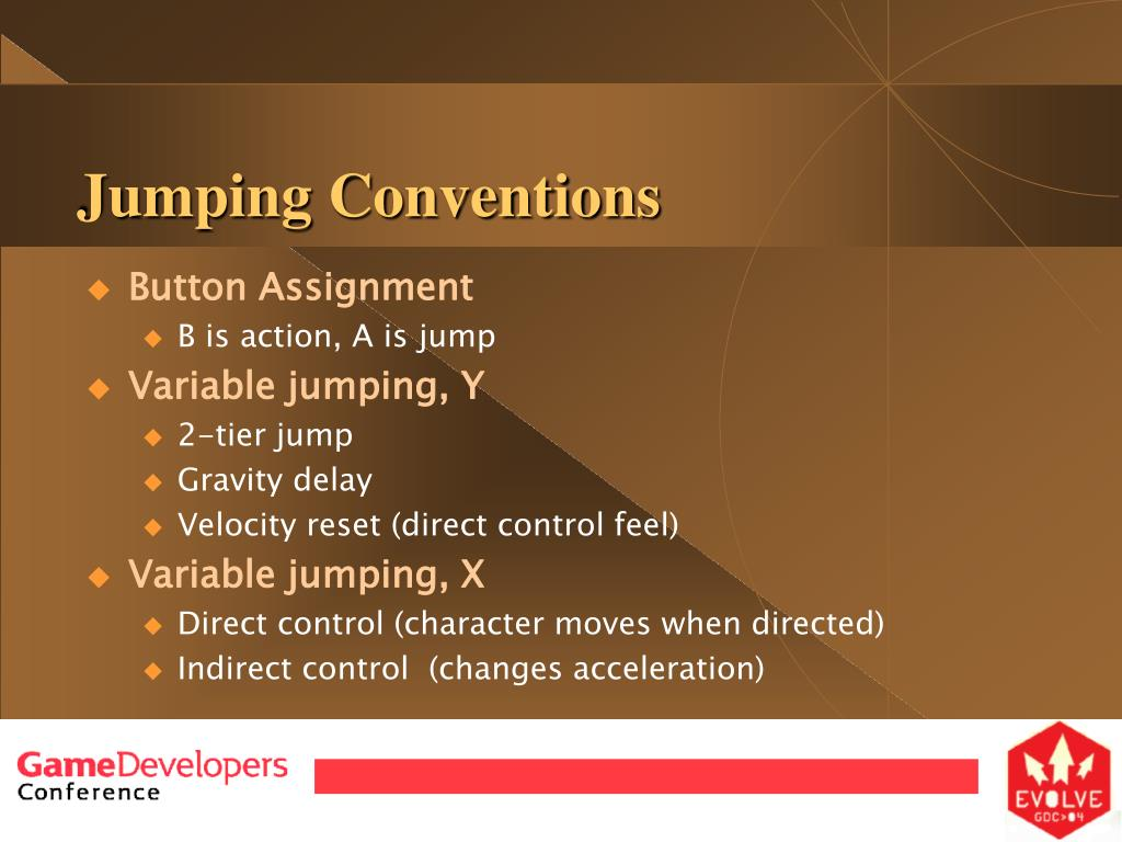 Jumping Conventions