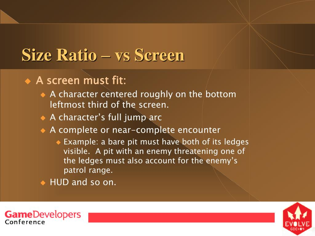 Size Ratio – vs Screen