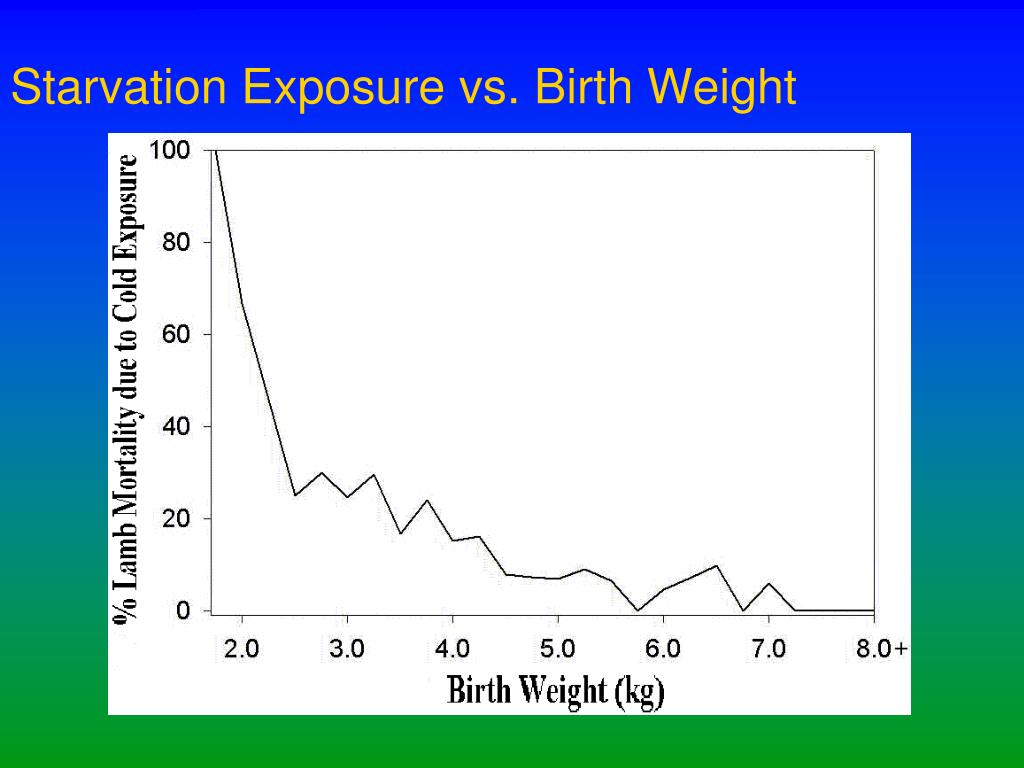 Starvation Exposure vs. Birth Weight