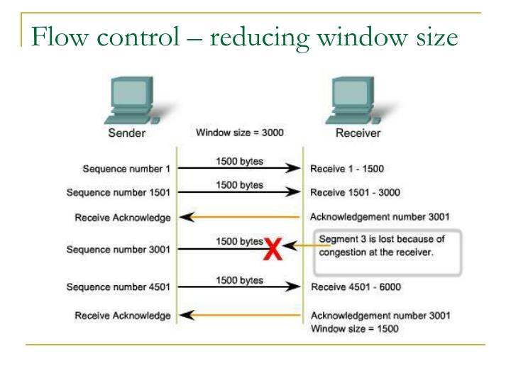Flow control – reducing window size