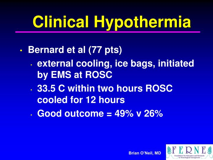 Clinical Hypothermia