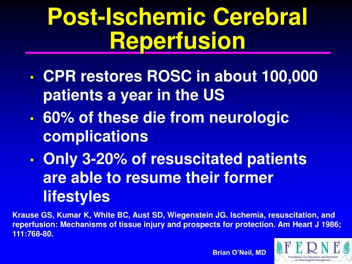 Post-Ischemic Cerebral Reperfusion