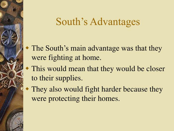 South's Advantages