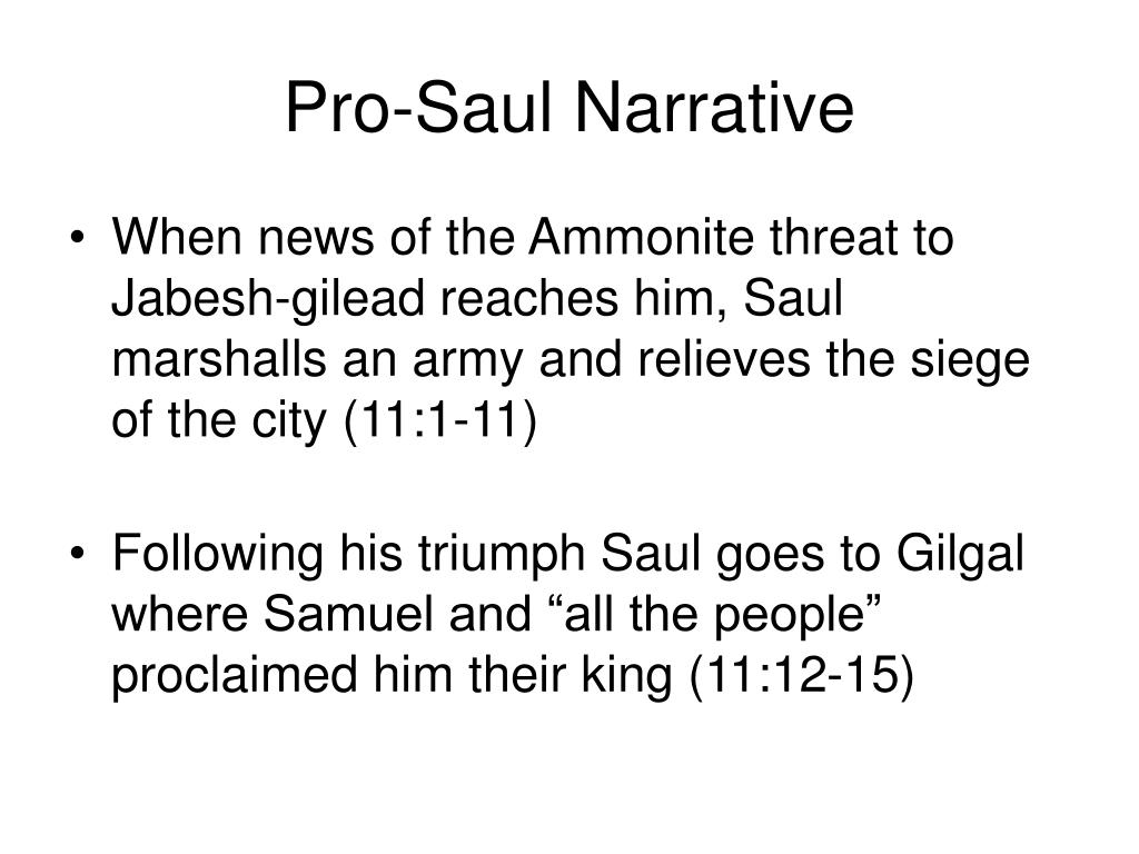 Pro-Saul Narrative