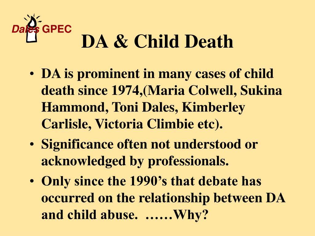 DA & Child Death