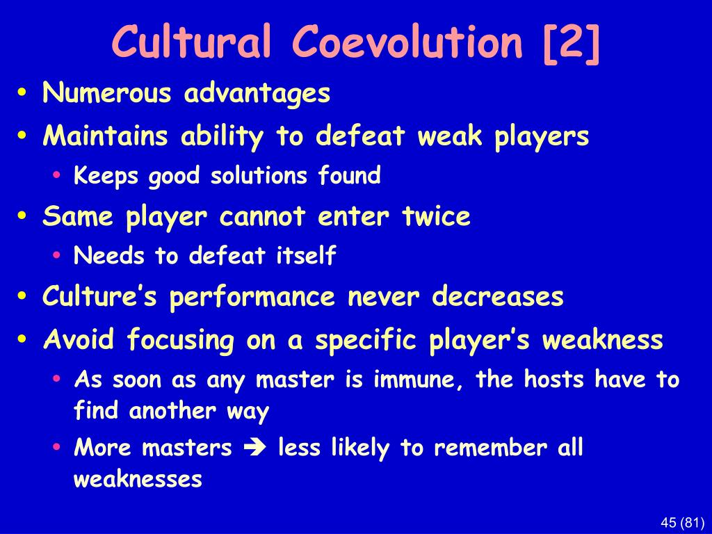 Cultural Coevolution [2]