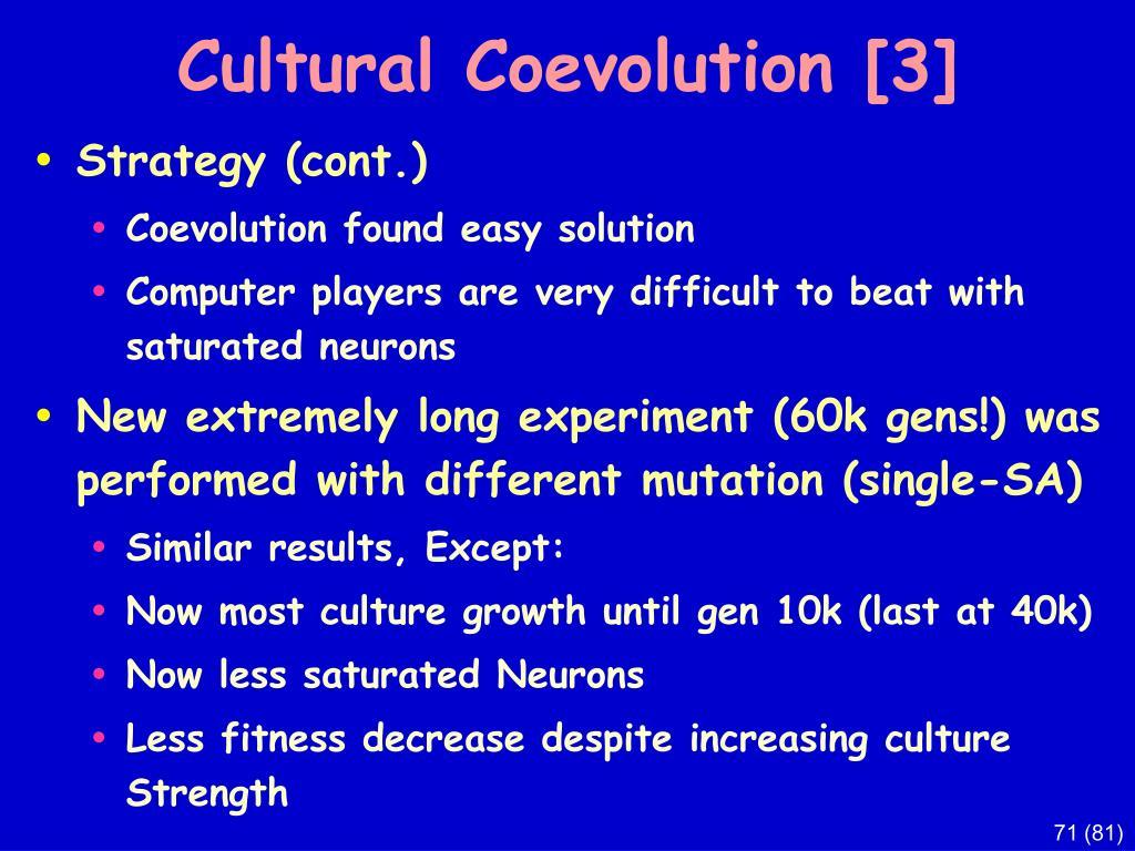 Cultural Coevolution [3]
